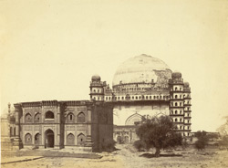 Grand Tomb of Mahomed Shah, 6th King of Beejapore, called the Guli Goombaz or Rose Dome.